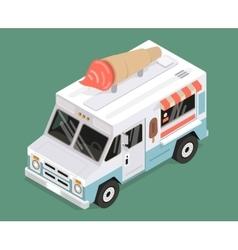 cool isometric ice cream van vector image