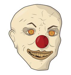 head scary clown the bald man vector image