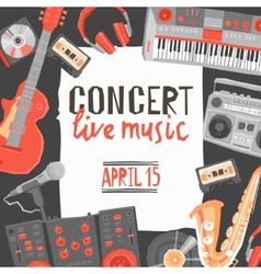 Music concert poster vector