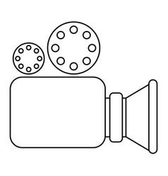 video camera icon in monochrome silhouette vector image vector image