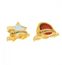 vintage gold emblems vector image vector image