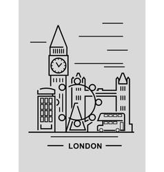 black london vector image