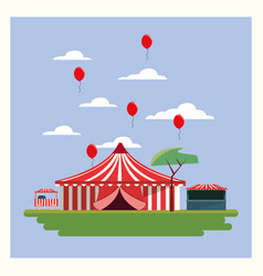 Circus carnival design vector