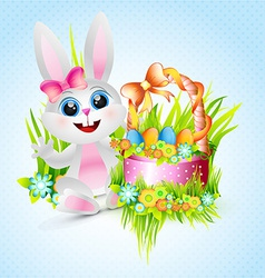 cute female rabbit vector image