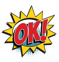 ok comic word vector image