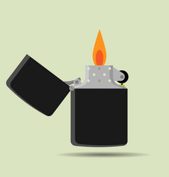 pocket lighter icon in flat style vector image vector image