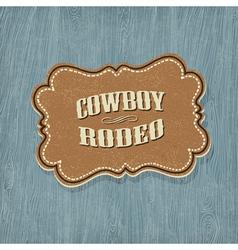 Retro western label vector