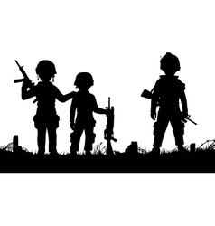 Child soldiers vector image vector image
