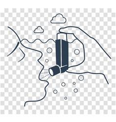 icon bronchial asthma black vector image