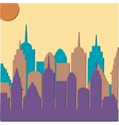 Morningt cityscape background vector image