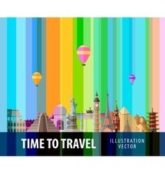 travel journey logo design template vector image