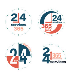 24 hours open customer service vector image