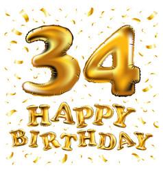34 years anniversary happy birthday joy vector