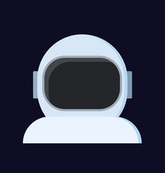 Abstract astronaut helmet isolated flat icon vector