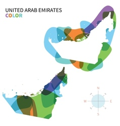 Abstract color map of United Arab Emirates vector image