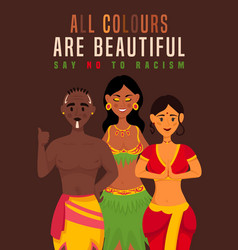 All colours are beautiful vector
