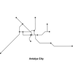 antalya subway vector image