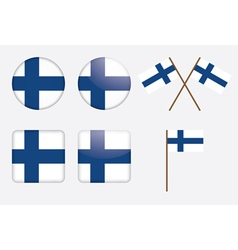 badges with Finland flag vector image