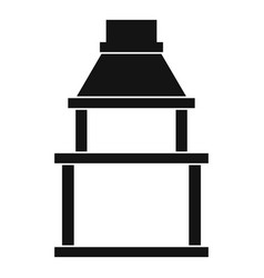 bbq grill icon simple style vector image