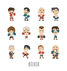 Boxing player eps10 format vector
