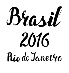 Brasil Rio lettering set2016 competition games vector