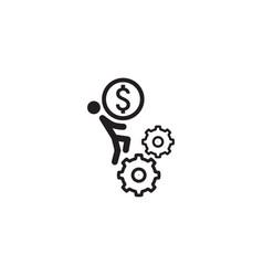 Business mechanics icon flat design vector