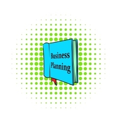 Business planning icon comics style vector