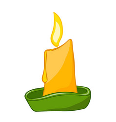 candle isolated vector image