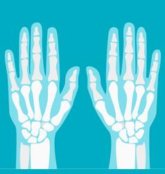 Cartoon human joints hands set vector