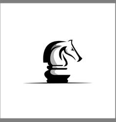 chess logo design template vector image