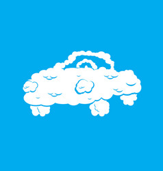 cloud car isolated auto from clouds heavenly vector image