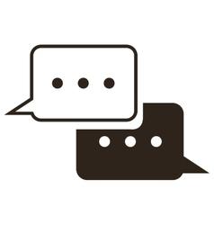 conversation bubbles icon vector image