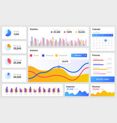 dashboard mockup website template with vector image