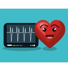 Digital healthcare cardio heart rate vector