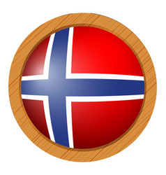 flag of norway in round icon vector image