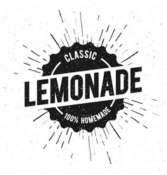 fresh lemonade vintage stamp sign vector image