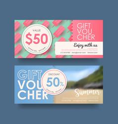 Gift voucher 301 vector