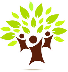 Green family for ECO concept vector