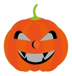 Halloween pumpkin cartoon isolated on white vector