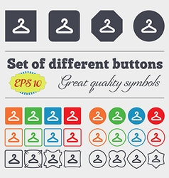 Hanger icon sign Big set of colorful diverse vector image