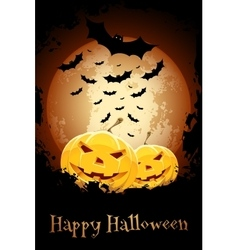 Happy Halloween Poster Grungy vector image
