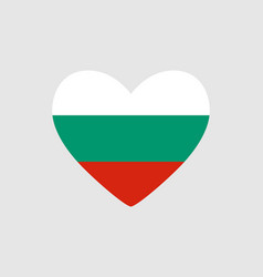 heart of the colors of the flag of bulgaria vector image
