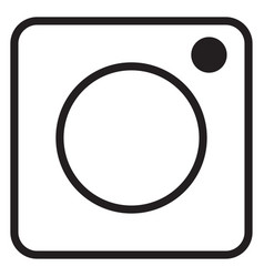 Instagram logo icon vector