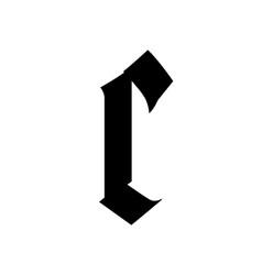 Letter c in gothic style alphabet symbol vector