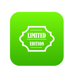 limited edition icon digital green vector image