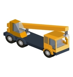 Machinery construction isometric isolated icon vector