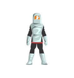 Man in professiona protective suit and helmet vector