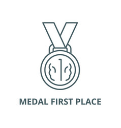 medal first place line icon linear concept vector image
