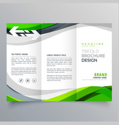 modern creative trifold business brochure vector image