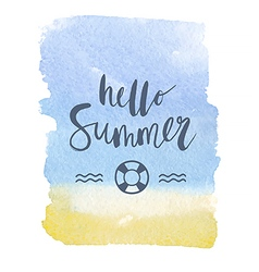 Motivation poster Hello summer vector